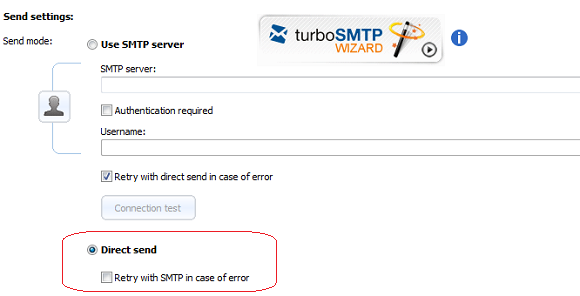 Direct Send and SMTP servers - smtp mail server