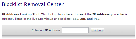 Spamhaus lookup - smtp mail server - professional SMTP service provider