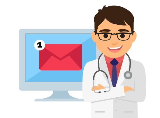 Covid-19, le e-mail dei medici non arrivano