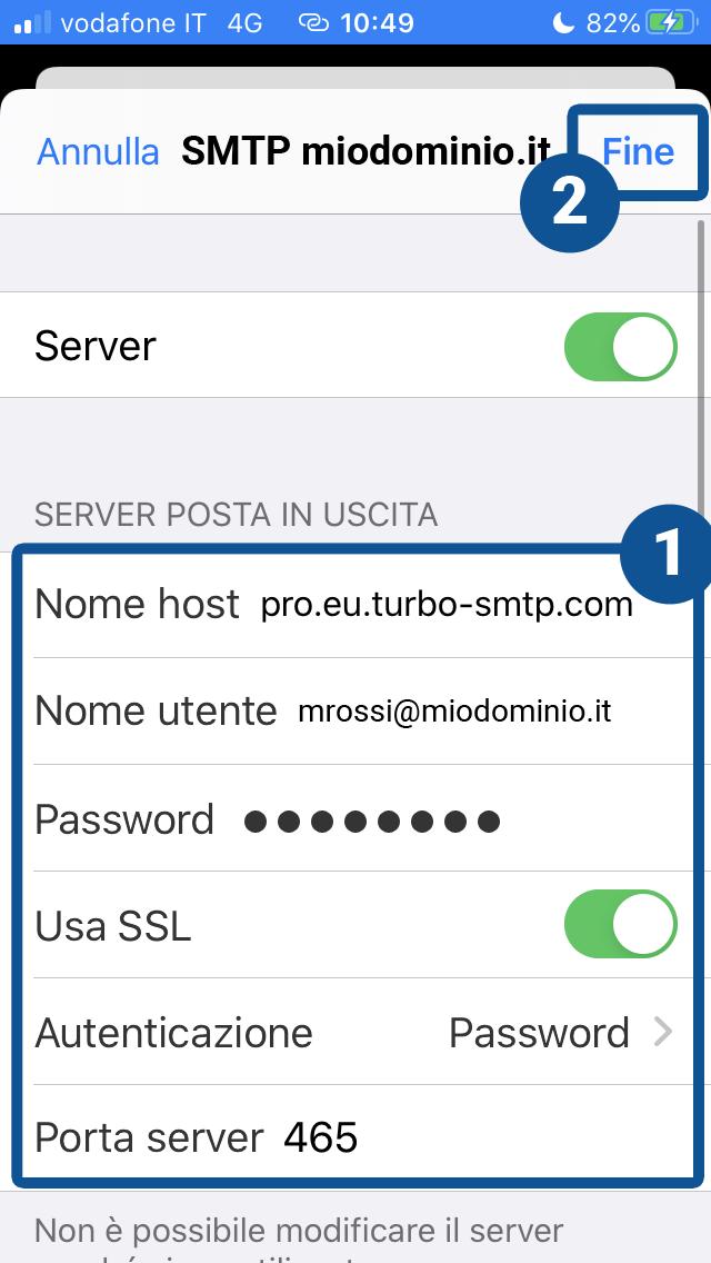 Come configurare il client di posta Mail di iOS
