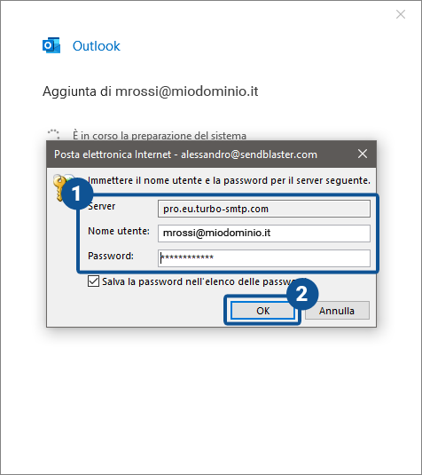 Come configurare il client di posta Outlook