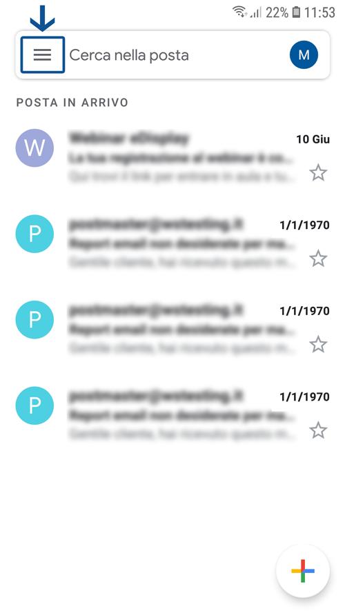 Come configurare il client di posta Gmail per android