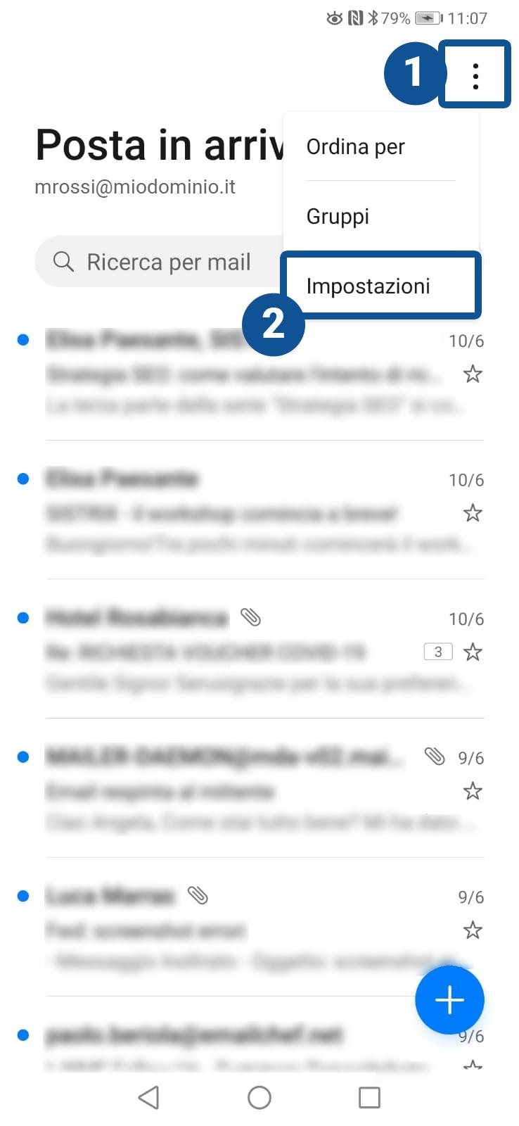Come configurare il client di posta Huawei Mail