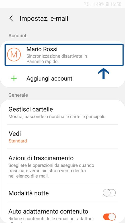 Come configurare il client di posta Samsung Mail