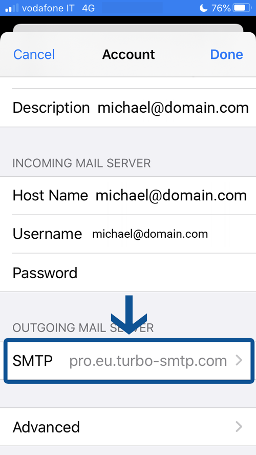 How to set up iOS Mail email client