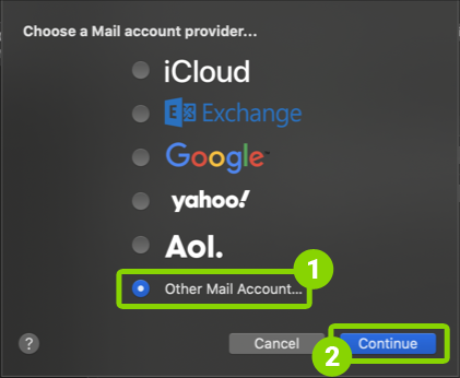 How to set up Mac OS Mail email client