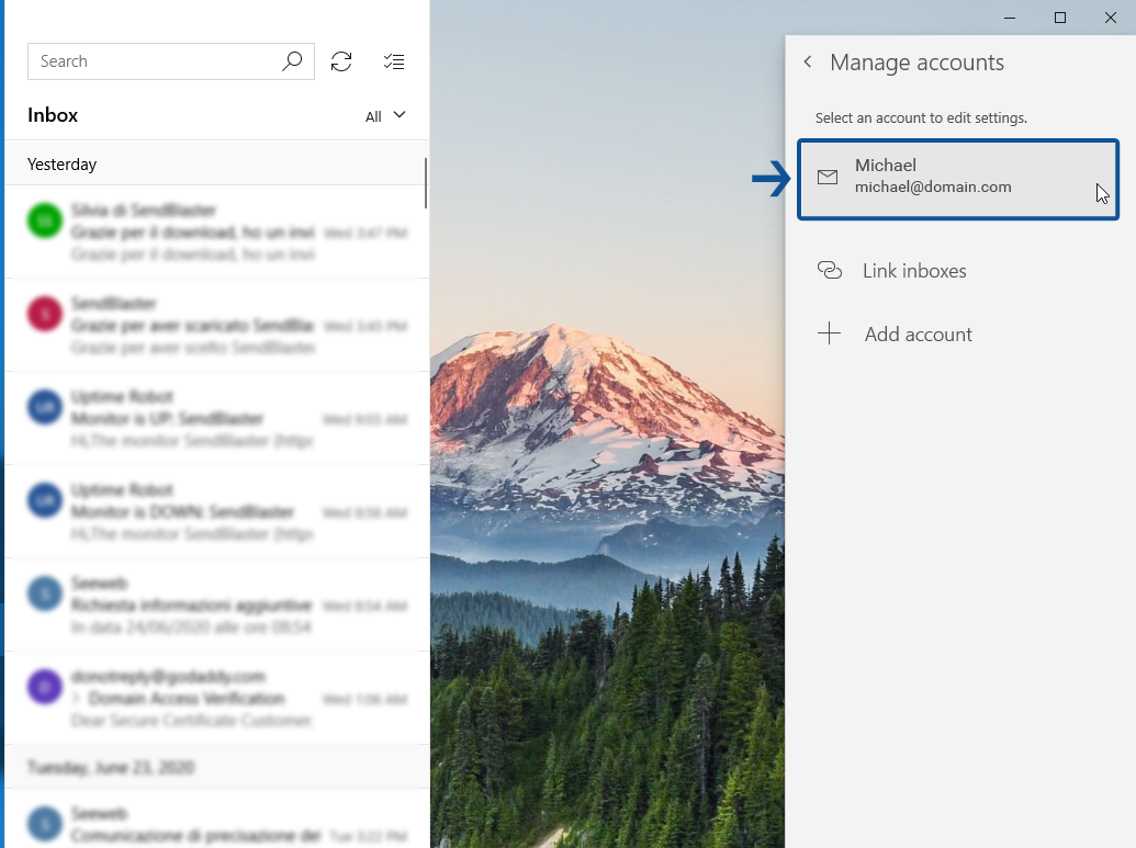 How to set up Windows Mail email client