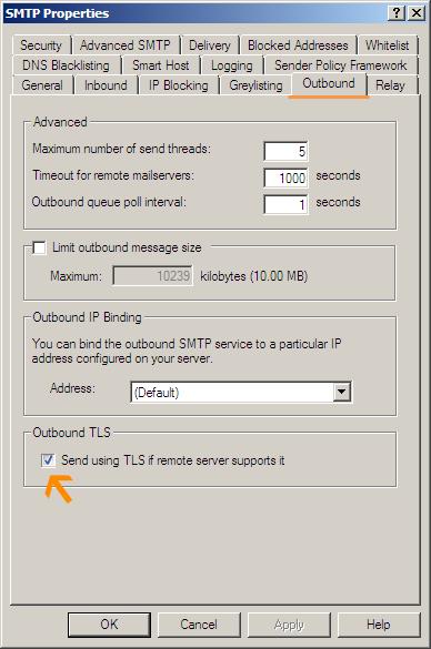 Setup MailEnable smart host