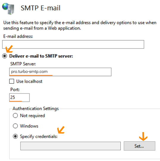 Microsoft IIS smtp Smarthost- Setup