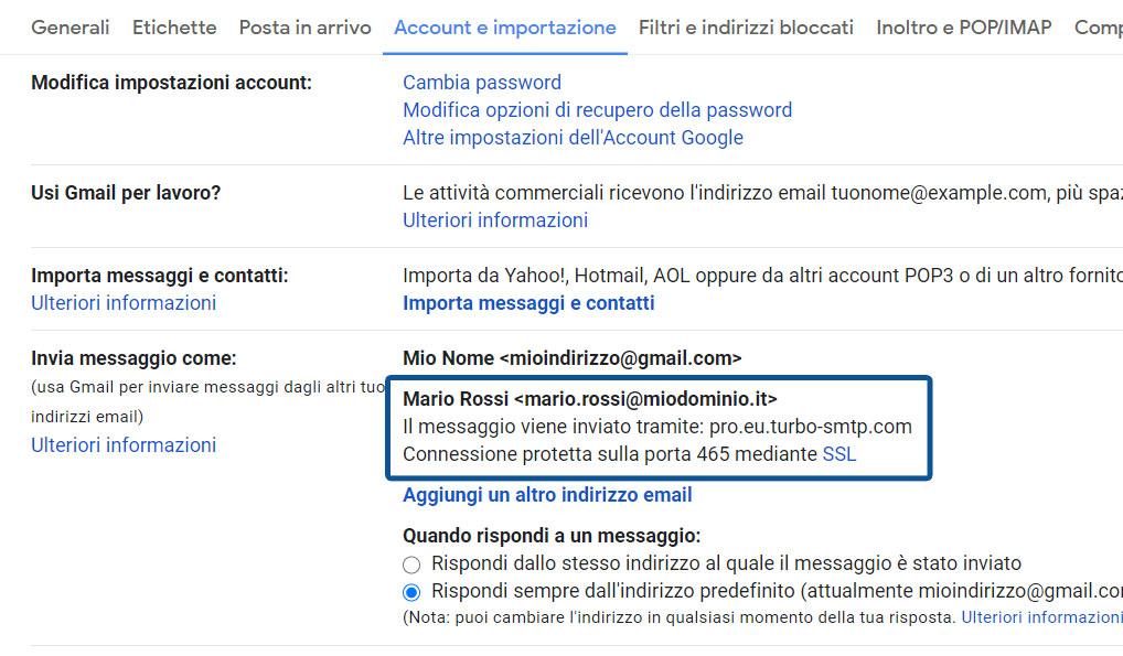 Come configurare il client di posta Gmail su browser