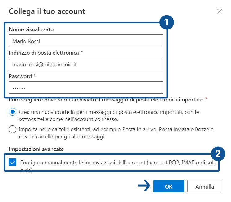 Come configurare il client di posta Outlook su Office 365