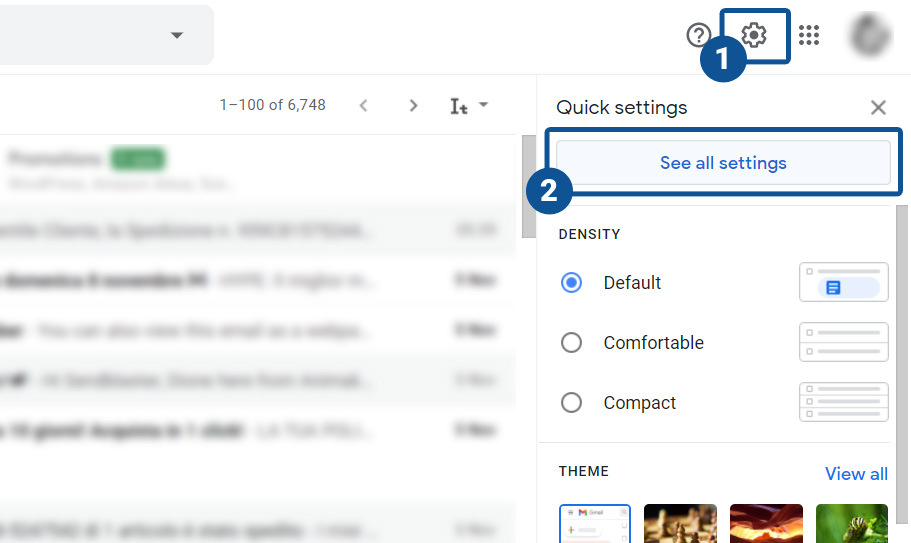 How to set up Gmail email client on the browser