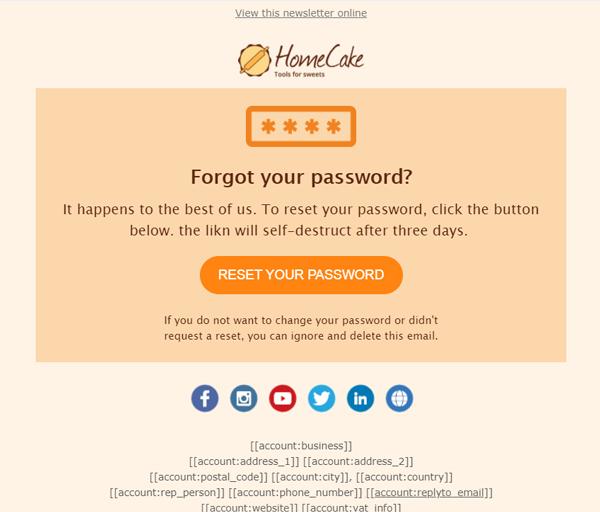 Email transazionale- Recupero credenziali d'accesso