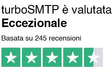 Recensioni turboSMTP su Trustpilot